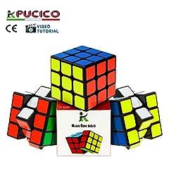Idea Regalo - Pucico Cubo 3x3 Originale Magico Professionale Speedcube di Ultima Generazione Puzzle Rompicapo per Bambini e Adulti Antistress Attossico
