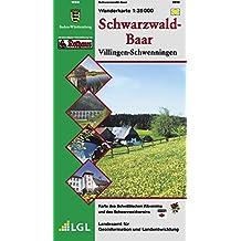 Schwarzwald-Baar, Villingen-Schwenningen: Wanderkarte, Karte des Schwäbischen Albvereins und des Schwarzwaldvereins -  1:35 000  (Wanderkarten 1:35 000)