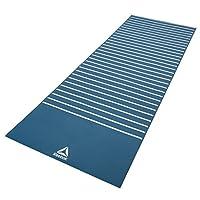 Reebok Double Sided Yoga Mat, Stripes/Blue - 4 mm