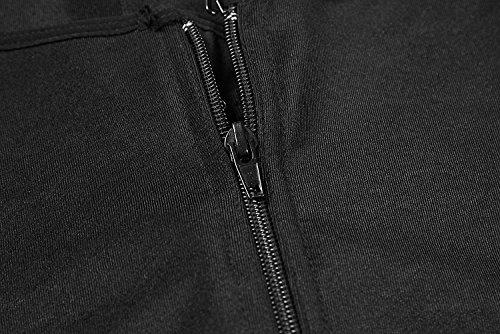Camellias Damen Shapewear offene nahtlos Büste Bodysuit Korsett Taillenformer Figurformender Body Shaper Schwarz und Beige Schwarz Zip + Spitze