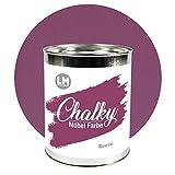 Laurenz+Morgan GmbH Chalky Möbelfarbe 1l (Beere) - - - Voll deckende in- & Outdoor Kreidefarbe für Shabby Chic Vintage und Landhaus Stil. Upcycling Farbe