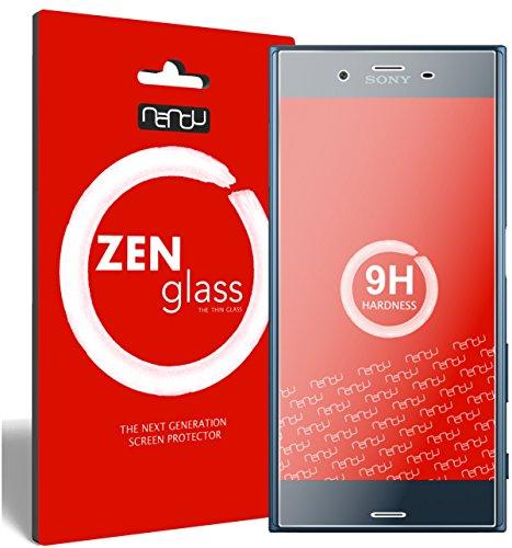 nandu I ZenGlass [2 Stück] Flexible Glas-Folie für Sony Xperia XZ Panzerfolie I Bildschirm-Schutzfolie 9H I (Kleiner Als Das Gewölbte Bildschirm)