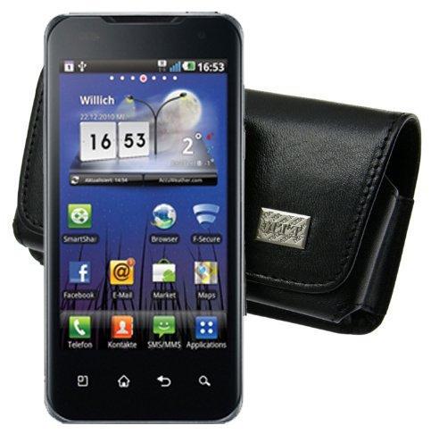 Original MTT Quertasche fuer / LG P990 Optimus Speed / Horizontal Tasche Ledertasche Handytasche Etui mit Clip und Sicherheitsschlaufe* LG P-990