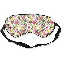 Colorful Flowers Pattern Natural Silk Sleep Mask Comfortable Smooth Blindfold for Travel, Relax preisvergleich bei billige-tabletten.eu