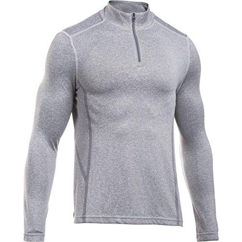 Under Armour UA Camden Seamless 1/4Zip Langarm T-Shirt, Herren M Grau (Air Force Gray Heath) -