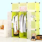 #7: Kurtzy® Wardrobe Organizer Storage Rack for Kids and Women Clothes Cabinet Bedroom Organiser Boxes with 12 Doors and Shelf