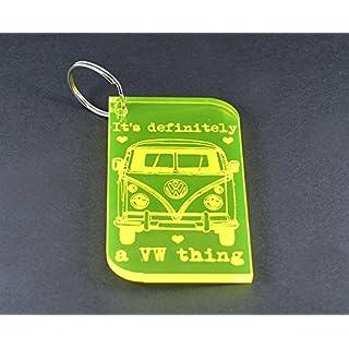 VW Schlüsselanhänger aus Acryl, gelb