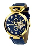 Calvaneo 1583' Venedi Gold Blue High Luxury Automatikuhr vergoldet