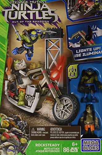 MEGA BRANDS Ninja Turtles Film Veicoli Chopper Rocksteady Moto DPW10 (Moto Chopper)