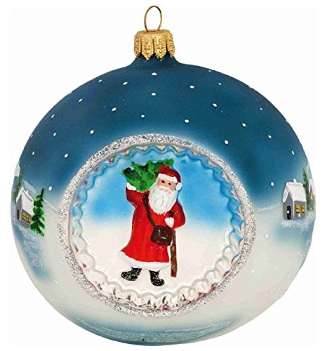 Joy Metzler Brothers Father Frost Santa Reflector Ball Polish Christmas Ornament -