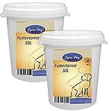 2 x Lyra Dog Futtertonne 30 Liter Futterbox Tonne Futteraufbewahrung Behälter