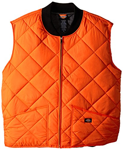 Dickies-te242diamante trapuntato Nylon Vest Neon Orange XXX-Large