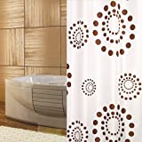 KS Handel 24 Top Designs Textil Duschvorhang 120x200 cm/Retro Braun