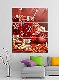 Acrylglasbilder 3 Teilig 100x120cm Weihnachten Tee Tisch Küche rot Acrylbild Acrylglas Acrylbilder Wand Bild 14E893, Acrylglas Größe 7:BxH Gesamt 100cmx120cm