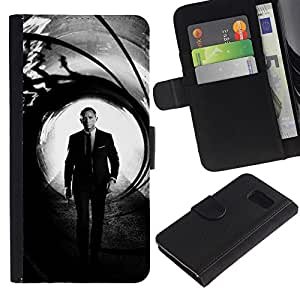 JackGot ( Daniel Craig Bond ) Sony Xperia Z3 Compact / Z3 Mini (Not Z3) Credit Card Slots PU Wallet Pouch Housse de protection Skin Cas Case Coque