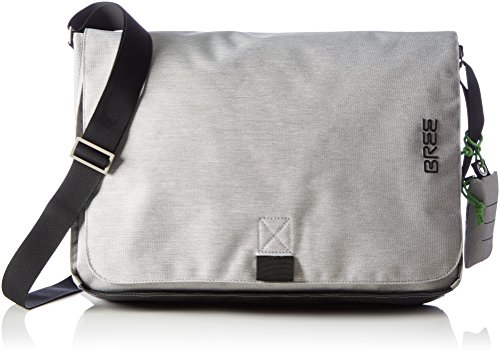 BREE Punch Style 711, Black, Messenger - Zaini Unisex Adulto, Schwarz (Black), 10x32x40 cm (B x H T) Grigio (Light Grey)