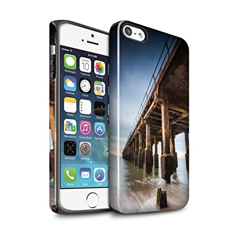 Coque Brillant Robuste Antichoc de STUFF4 / Coque pour Apple iPhone 5/5S / Point De Vue Jetée Design / Bord Mer Anglaise Collection Structure Jetée