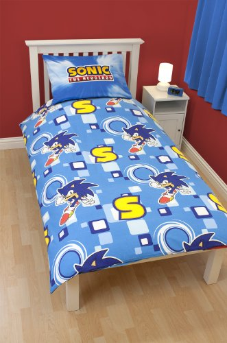 Image of Character World 135 x 200 cm Sonic the Hedgehog Spin Single Panel Duvet Set