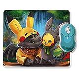 Mauspad Pikachu Toothless Pappaufsteller Standy und ca Kostüm Reverse Chibi und kawaii (Pokemon & Dragon)–chamalow Shop