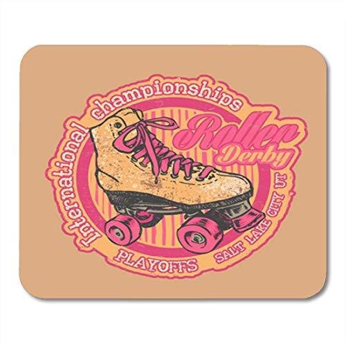 HOTNING Gaming Mauspad Rollerskate Roller Derby International Championships Retro Skate and Vintage 11.8