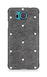 Amez designer printed 3d premium high quality back case cover forSamsung Galaxy Alpha (hearts embroiderry)