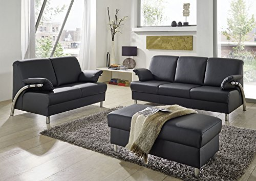 Sitzkombination - Polstergarnitur - 3-2-1 - Sitzgarnitur - Sofa - Sofagarnitur 'Ohio Steel'