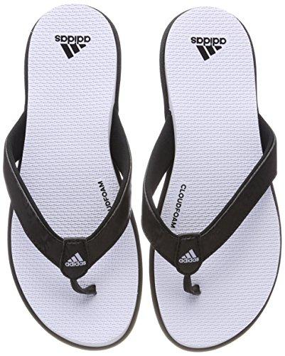 adidas Women's Cloudfoam One Y Beach and Pool Shoes, Black (Cblack/Aerblu), 5 UK