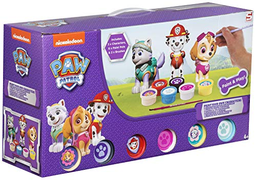 Cife Figure Plaster Paw Patrol for Painting 3 Pack, (4330PWP)