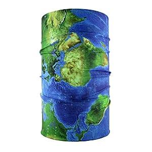headloop multifunción Toalla Mapa del Mundo Loop Manguera–Pañuelo de Microfibra