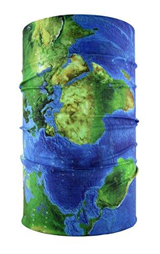 HeadLOOP Multifunktionstuch Weltkarte Loop Schlauchtuch Schal Halstuch Kopftuch Microfaser