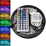 LED Fairy Lights,LED Strip Light,Hirolan 5M 5050 RGB SMD LED Wasserdicht Flexibel Streifen 300 LEDs + 44 Tasten IR-Fernbedienung LED Rope Light for Christmas/Wedding/Party (Bunt)