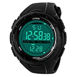 Sport Watch by CIVO Men's Multifunctional Military Waterproof Simple Design Big Case Digital LED Screen Casual Business Watch with Microfiber Bonus
