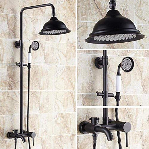 GZZ Badezimmer-Luxuxregen-Mischer-Duschkombo-Satz an der Wand befestigte Duschkombination Regenschauer-Kopf-volle Körper-Abdeckung Einfach zu säubern und zu installieren