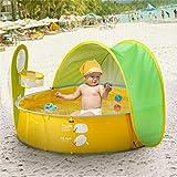 Yunhigh Baby Zelt Pop Up Bällebad, Baby Planschbecken mit Sonnenschutz UV-Schutz zum Spielen von...