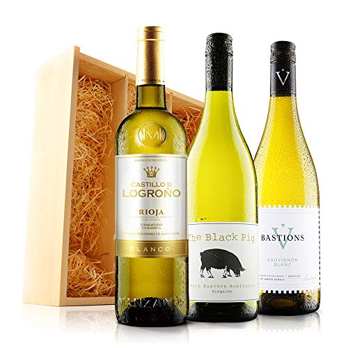 Sendagift by Virgin Wines Classic White Wine Gift Trio In Wooden Gift Box