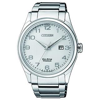 Citizen Reloj Análogo clásico para Hombre de Energía Solar con Correa en Titanio BM7360-82A