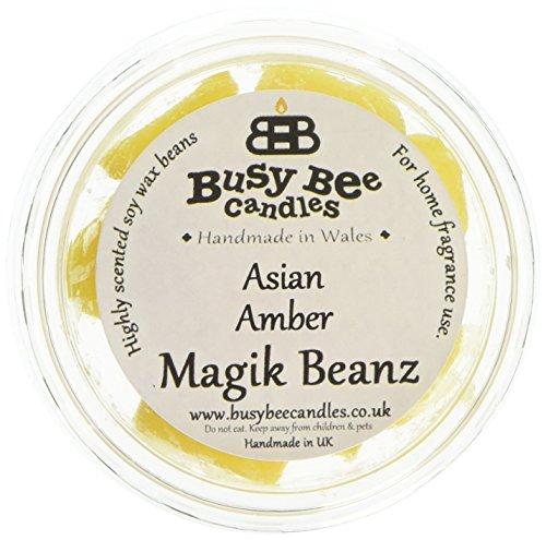 Busy Bee Bougies Ambre Asiatique Magik Beanz, Jaune, Lot de 6