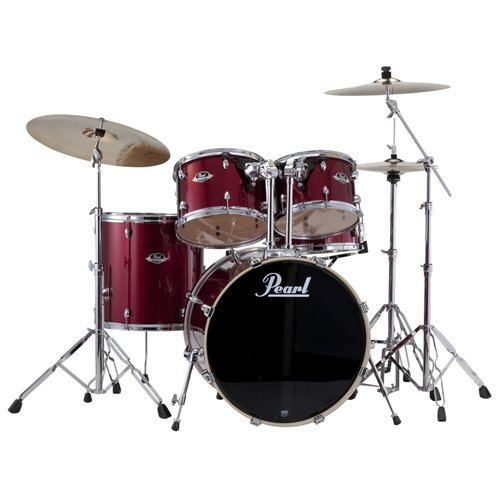 Pearl-Export-EXX725-Drum-Kit-with-Cymbals-Wine-Red