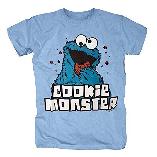 TSP Sesamstraße Cookie Monster T-Shirt Herren M (Kostüme Statler Und Halloween Waldorf)