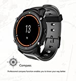 FS08 Bluetooth Smart Uhr Wasserdicht IP68 Schwimmen GPS Sport Fitnes Tracker Stoppuhr Pulsmesser Armbanduhr Uhr,Black