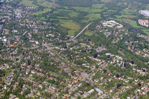 MF Matthias Friedel - Luftbildfotografie Luftbild von Bargteheider Straße in Rahlstedt (Hamburg), aufgenommen am 25.05.09 um 17:45 Uhr, Bildnummer: 5340-08, Auflösung: 6048x4032px = 24MP - Fotoabzug 50x75cm