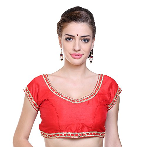Nishtha Creations red Color Dupion Silk Fabric and handwork Readymade Designer Party...