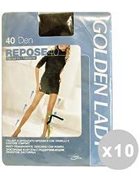 GOLDEN LADY Repose Set 10 Collants 40 den noir Taille XL 36g 42f374972e3