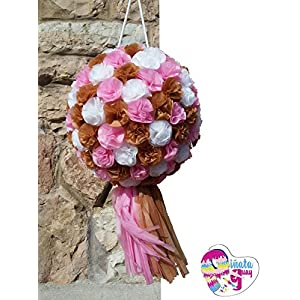 Pinata Blumen mit Pompon. Hochzeit Piñata. Piñata Jahrestag (Optionaler Stick)