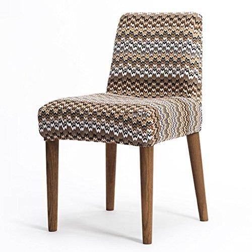 ERRU-Chaises Chaises de salle à manger en bois massif nordiques Salon Bureau Canapé de café Chaises de dossier de loisirs (41 * 43 * 77CM) ( taille : 6 Pieces )