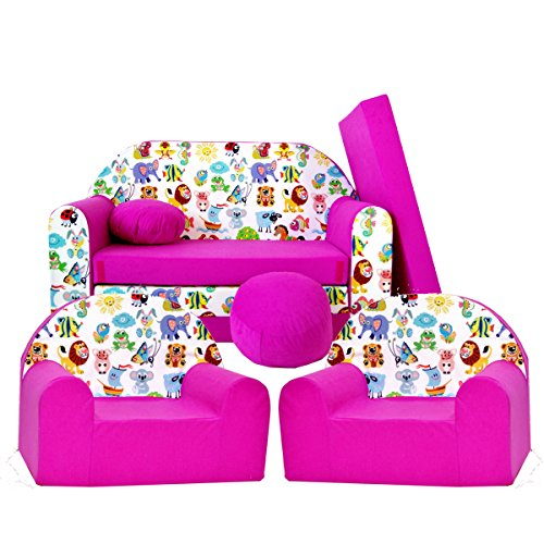Barabike H5 kit de Lot, Mini pour Enfants, bébé Lot de 3 pour Enfants Canapé + 2 Fauteuil pour Enfant