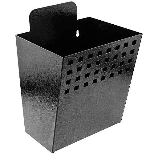 PrimeMatik - Contenedor metálico para Montaje en Pared. Buzón para revistas y periódicos. Color Negro