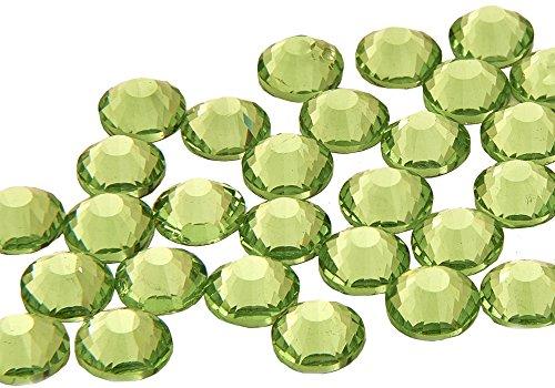 EIMASS® Strasssteine - Kristalle, Flache Rückseite, DMC, kein Hotfix-Glas, 1440 Stück, - Peridot Lime Green - Größe: 3 mm (Gläser Green Lime)