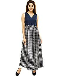 Adyuth Abstract Blue Printed Maxi Dresses