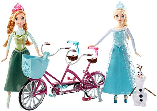 Disney Frozen Anna and Elsa's Musical Bicycle Playset by Mattel